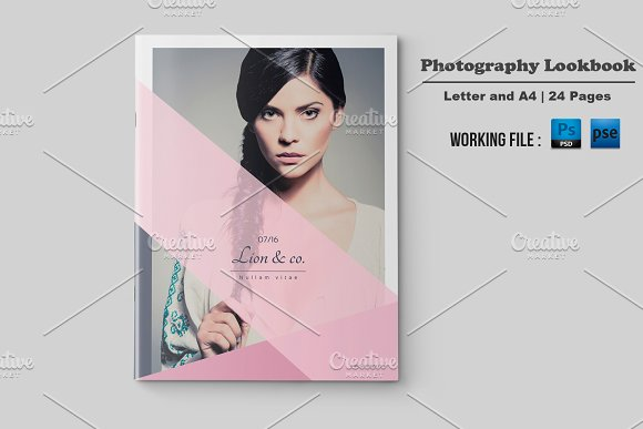 fashion lookbook template v499 brochure templates creative market