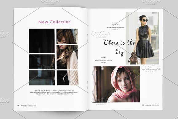 fashion lookbook template v499 brochure templates creative market