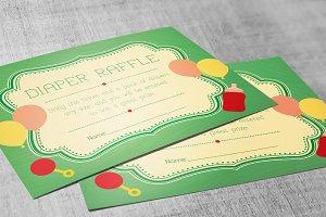 Retro Diaper Raffle Card Publisher