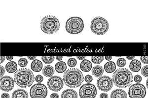 Textured circles set
