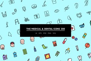 The Medical & Dental Icons 200