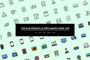 The Electronics&Appliances Icons 100