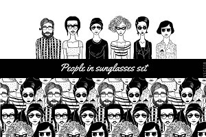 People in sunglasses set