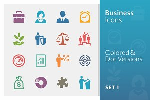 Business Icons Set 1 | Colored