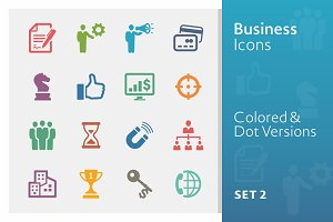 Business Icons Set 2 | Colored
