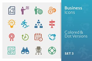 Business Icons Set 3 | Colored