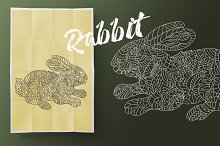 Rabbit. Coloring for adult