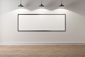 Blank picture frame background