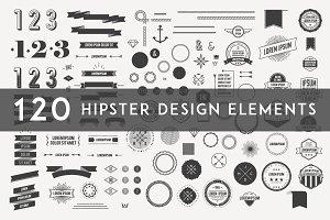 120 Hipster Design Elements
