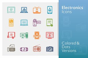 Electronics Icons - Colored Series