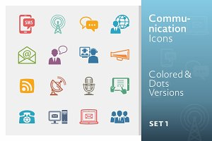Communication Icons Set 1 | Colored