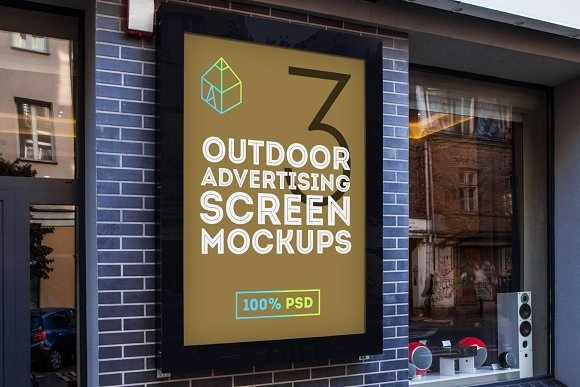 Download Outdoor Advertising Screen Mockups 2