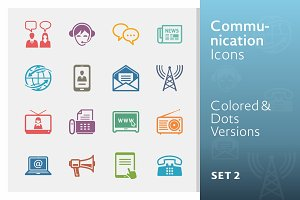 Communication Icons Set 2 | Colored