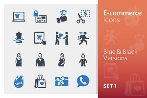 E-commerce Icons Set 1 - Blue Series