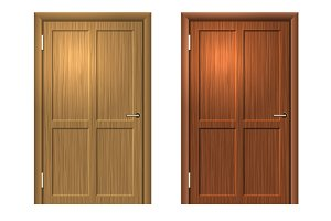 Realistic Wood door set