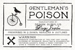 Gentleman's Poison Font (2 versions)