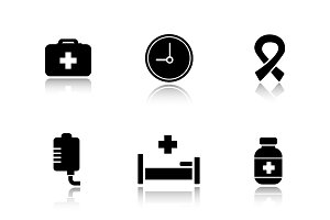 Hospital icons. Vector