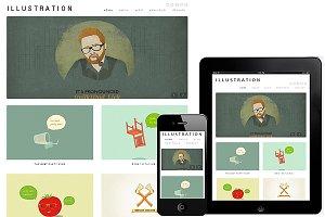 Illustration WordPress Responsive
