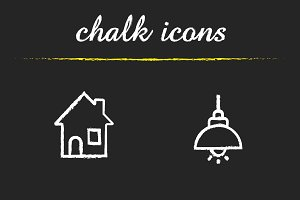 Home interior icons. Vector