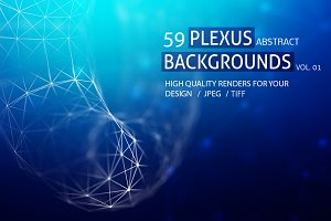 59 PLEXUS ABSTRACT BACKGROUNDS vol 1