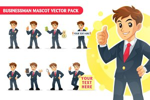 Businessman Mascot Vector Pack