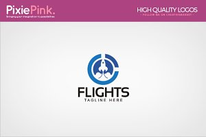 Flights Logo Template