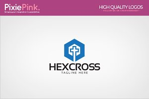 Hex Cross Logo Template