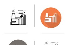 Factory icons. Vector