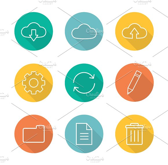 Cloud computing icons. Vector - Icons