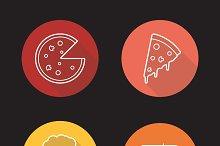 Pizzeria icons. Vector