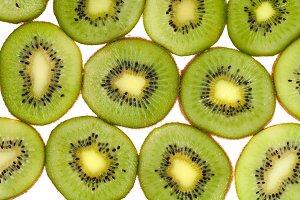 Green ripe kiwi
