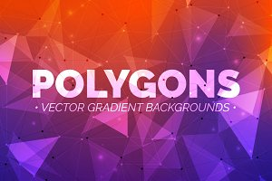 Polygons: Gradient Backgrounds