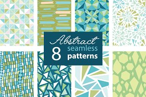 8 Fun Abstract Seamless Patterns Set