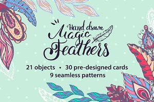 Magic vector feathers pack