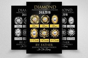Diamond Jewllery Shop Business Flyer