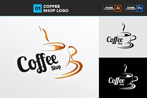 Coffee Shop Logo Template 01