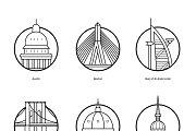 World Cities Illustrations