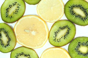 lemon - kiwi background