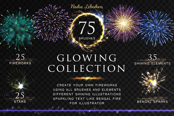 VECTOR GLOWING COLLECTION / BRUSHES