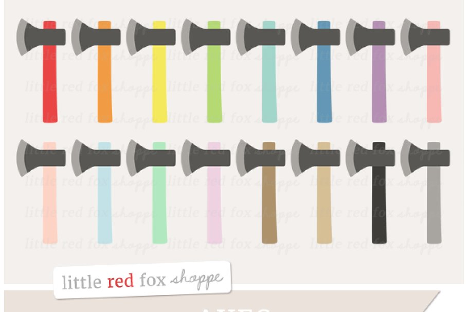 Axe Clipart in Illustrations - product preview 8