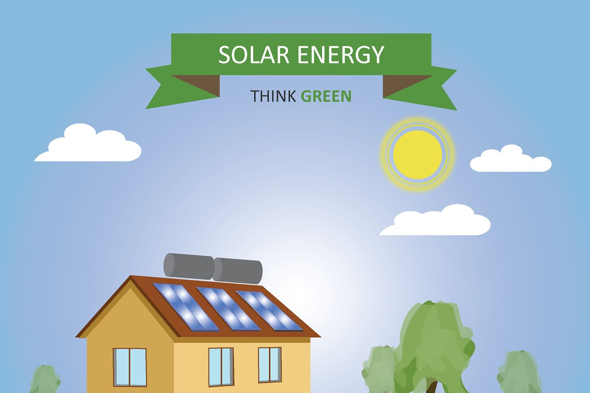 Solar panels in Illustrations - product preview 8