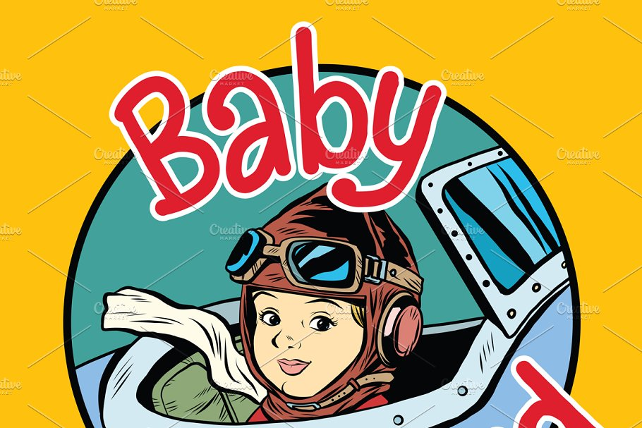 Baby on Board pilot in Illustrations - product preview 8