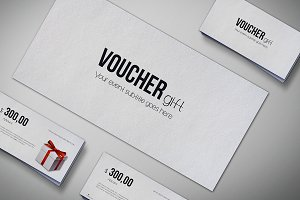 Gift voucher Mock Up Pack