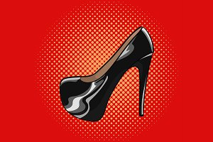 High heels pump lacquered shoes.