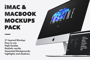 iMac & Macbook Mockups pack