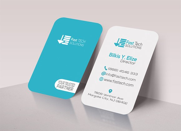 Fast Tech Round Business Card Business Card Templates Creative - Round business card template