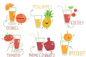 Fruits juices set