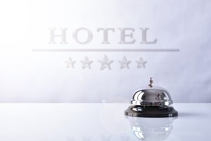 Service bell  with Hotel placard