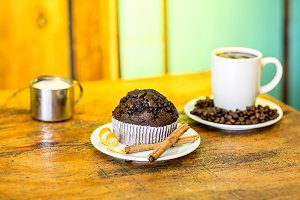 Chocolate Muffins with cup