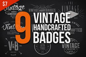Vintage Handcrafted Badges